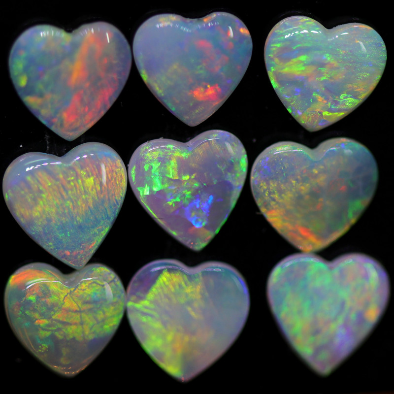 2.66 CTS HEART SHAPE CALIBRATED CRYSTAL FROM COOBER PEDY [SEDA2542]