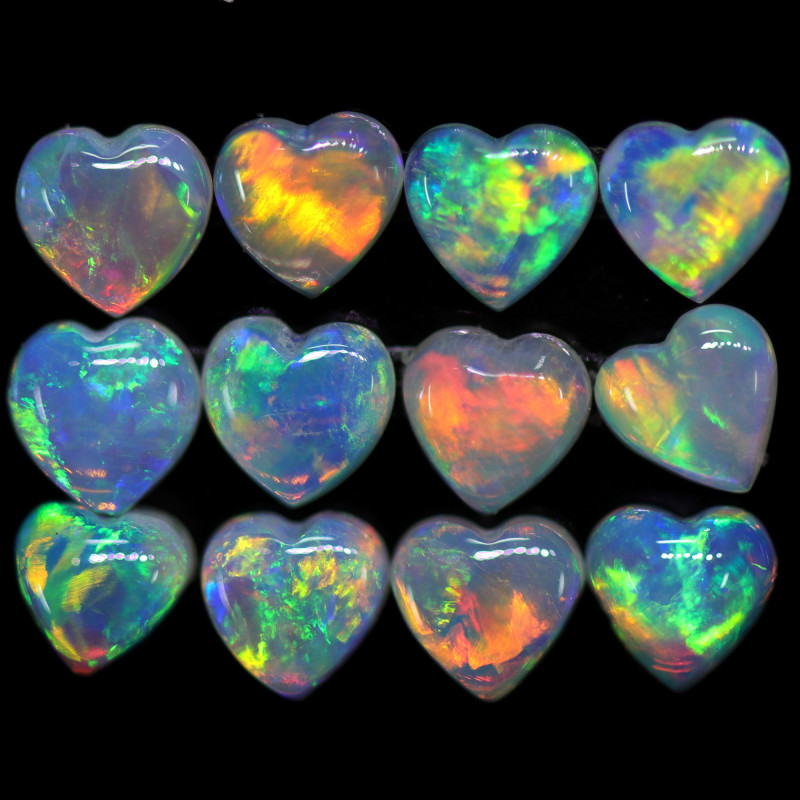 2.35 CTS HEART SHAPE CALIBRATED CRYSTAL FROM COOBER PEDY [SEDA2543]