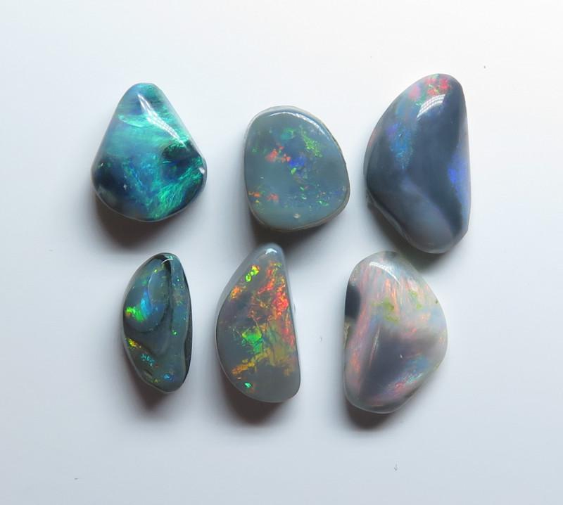 5.70t Lightning Ridge Black Opal 6 Stone Parcel