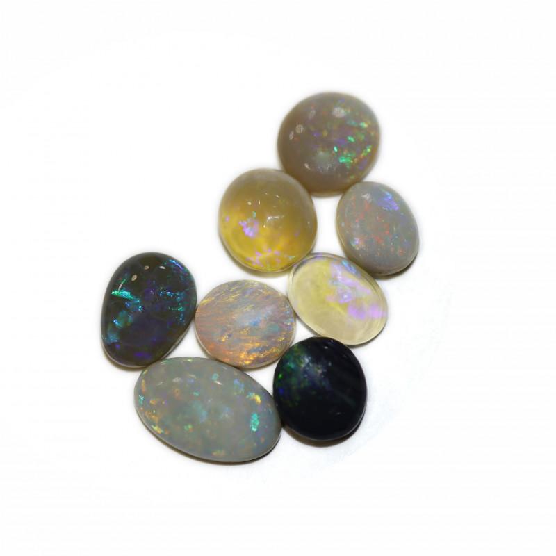 6.6CTS  Black& CRYSTAL  Opal Stone [CS50]