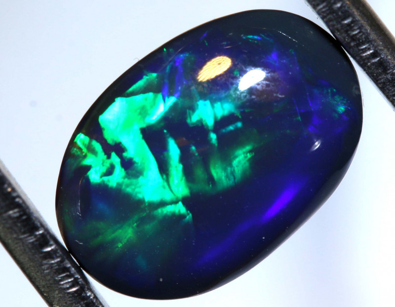 N1 - 2.45  CTS QUALITY BLACK SOLID OPAL LIGHTNING RIDGE INV-47 R