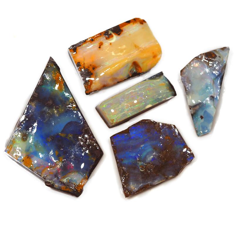 362.10CTS  Boulder Opal Rough/Rub Pre-Shaped PARCEL --  S1168