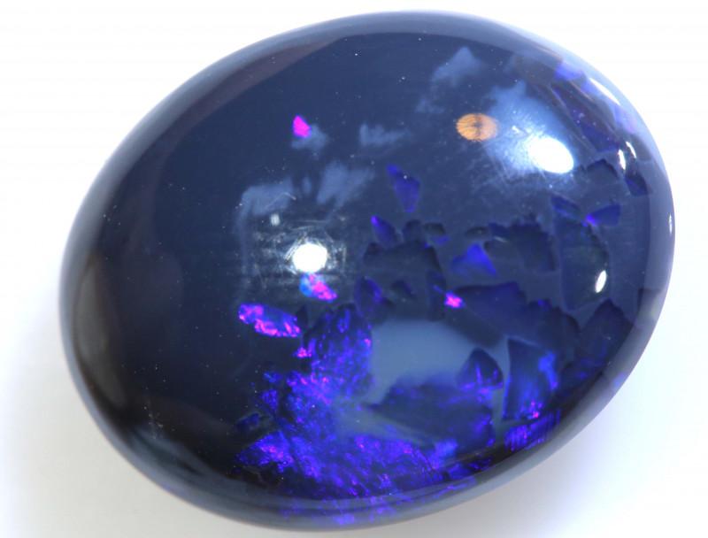 5.60 cts BLACK Lightning Ridge Opal Cut Stone C-5.60