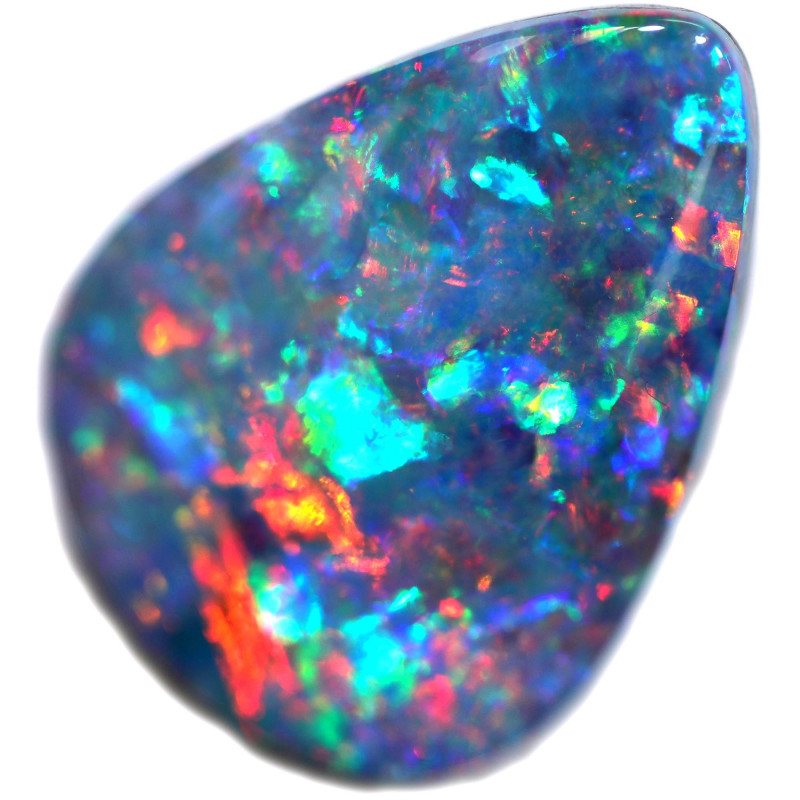 3.45 CTS OPAL SHELL FOSSIL DOUBLET[SEDA2571]