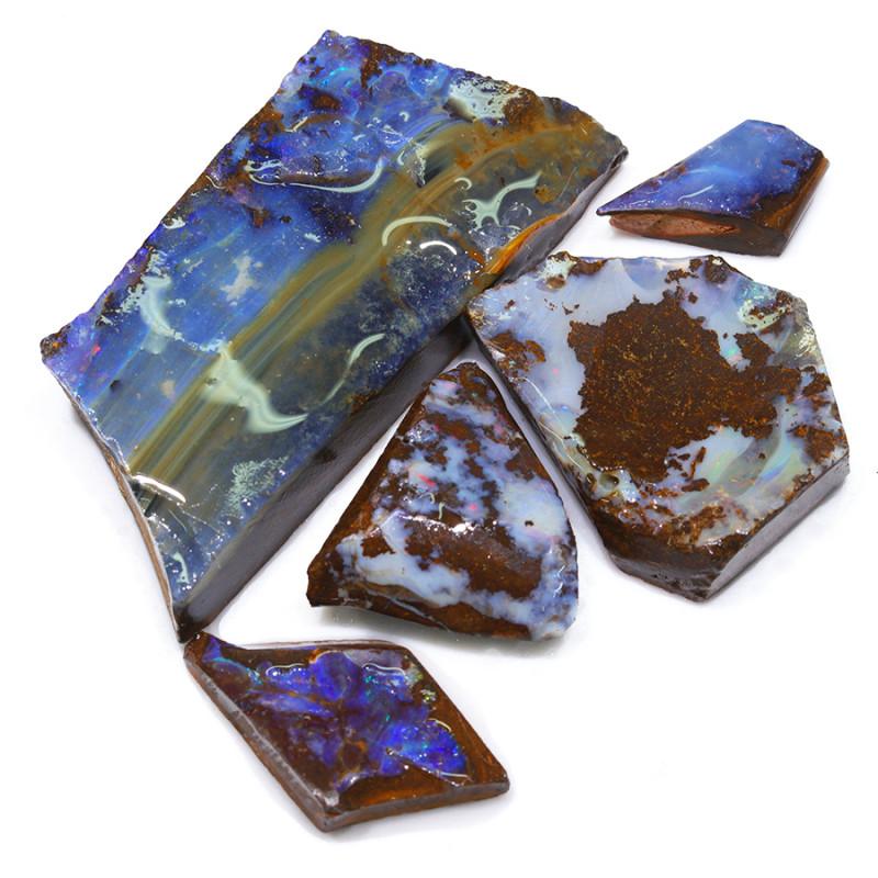 390.65CTS  Boulder Opal Rough/Rub Pre-Shaped PARCEL --  S1196
