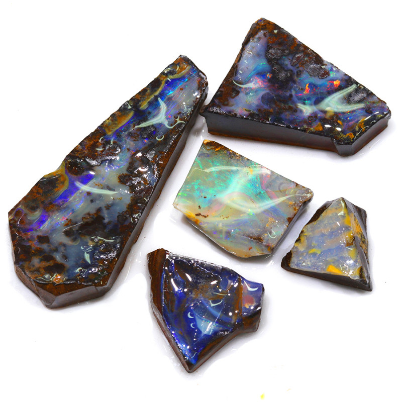 264.65CTS  Boulder Opal Rough/Rub Pre-Shaped PARCEL --  S1198