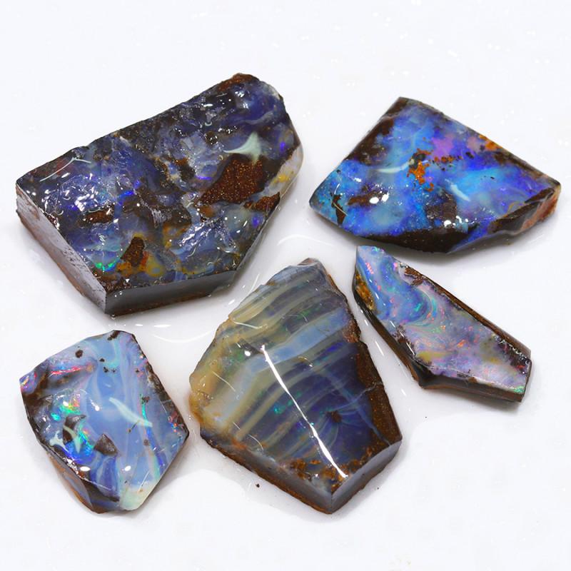 237.25CTS  Boulder Opal Rough/Rub Pre-Shaped PARCEL --  S1202