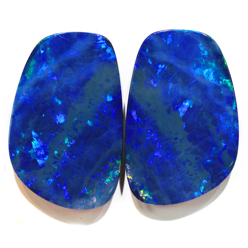 39.03CTS  OPAL DOUBLET PAIR , GREAT COLOUR PLAY --S1207