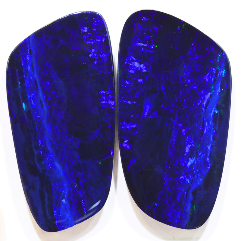 31.50CTS  OPAL DOUBLET PAIR , GREAT COLOUR PLAY --S1216