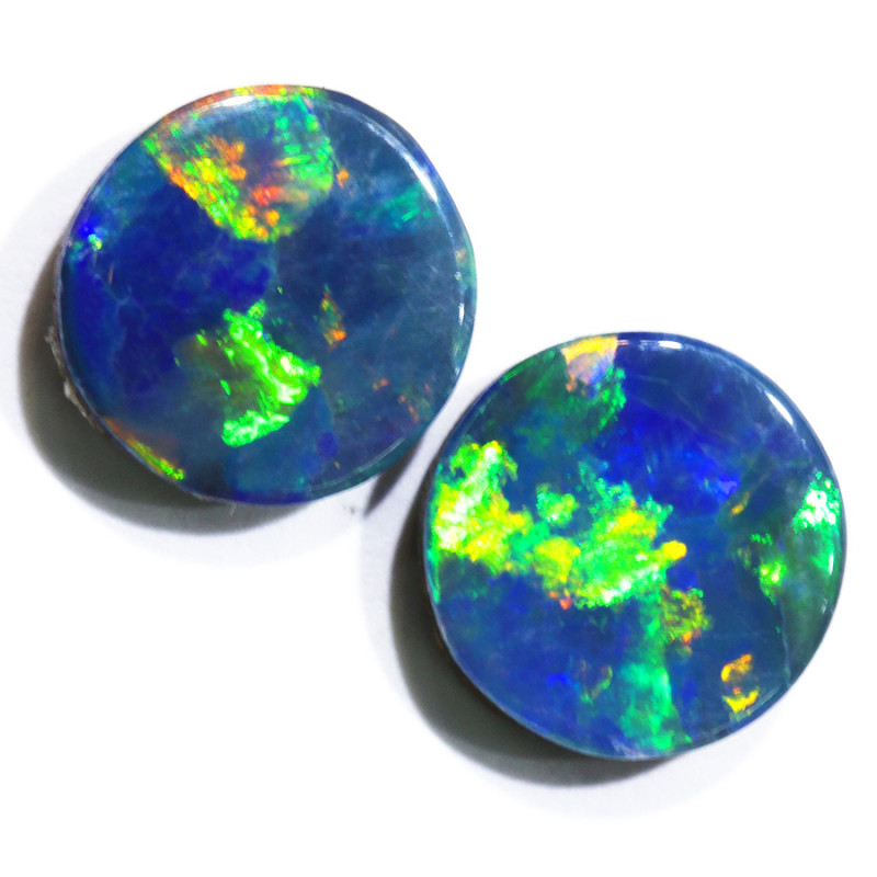 2.20CTS  OPAL DOUBLET PAIR , GREAT COLOUR PLAY --S1226
