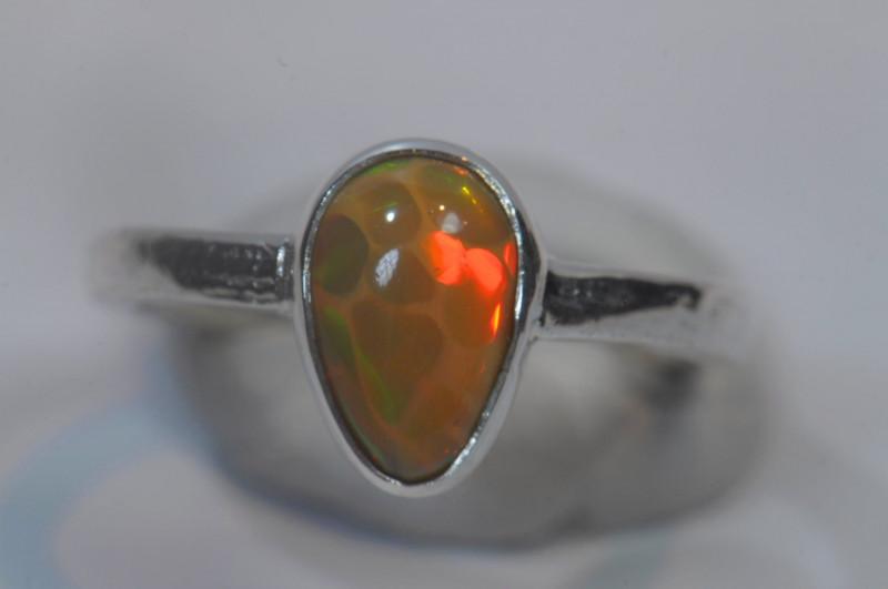 6.5sz Sterling Silver Blazing Welo Solid Opal