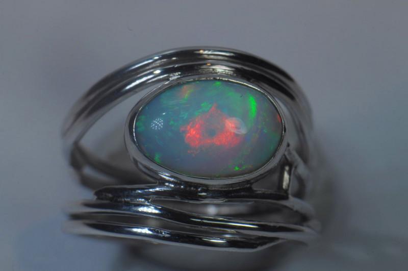 7sz Sterling .925 Silver Blazing Welo Solid Opal