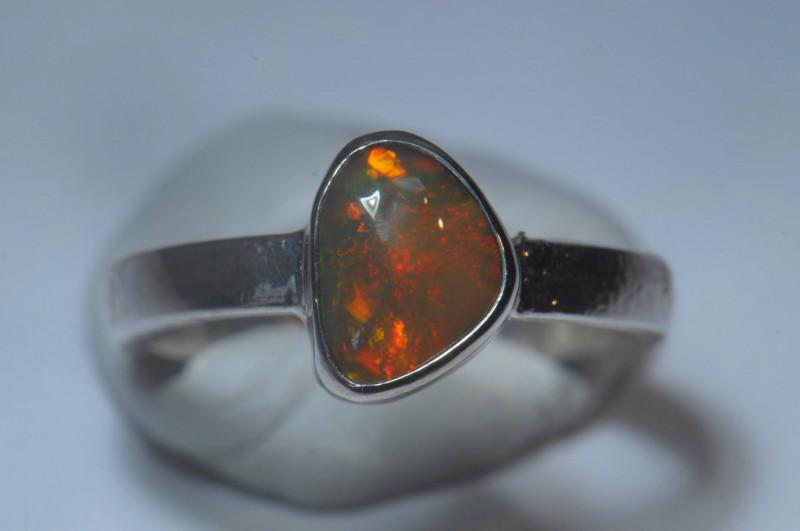 6.7sz Sterling Silver Blazing Welo Solid Opal