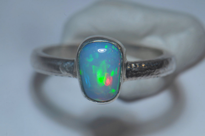 6.2sz Sterling Silver Blazing Welo Solid Opal