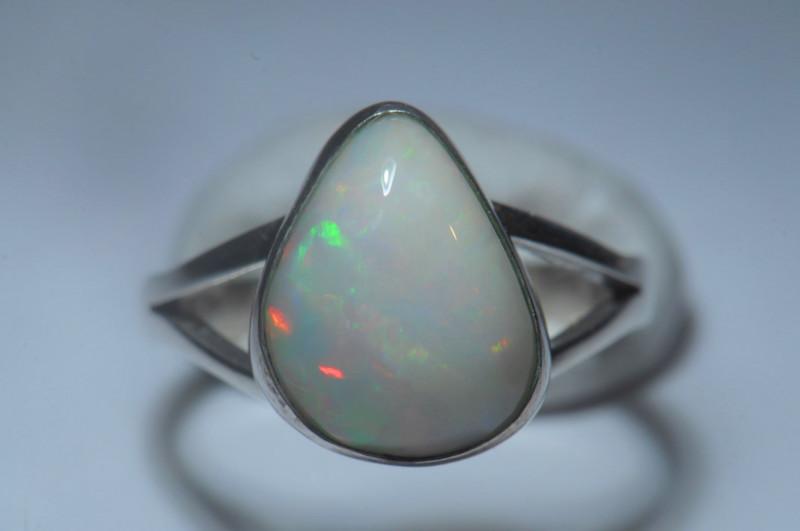 8sz Sterling Silver Blazing Welo Solid Opal