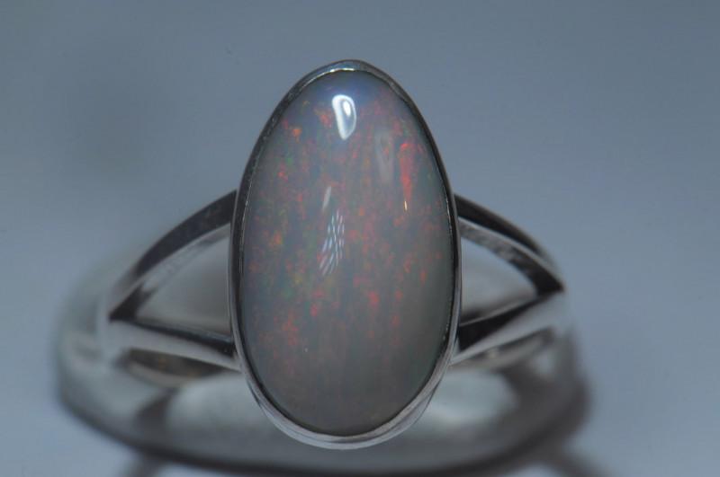 5.5sz Sterling Silver Blazing Welo Solid Opal