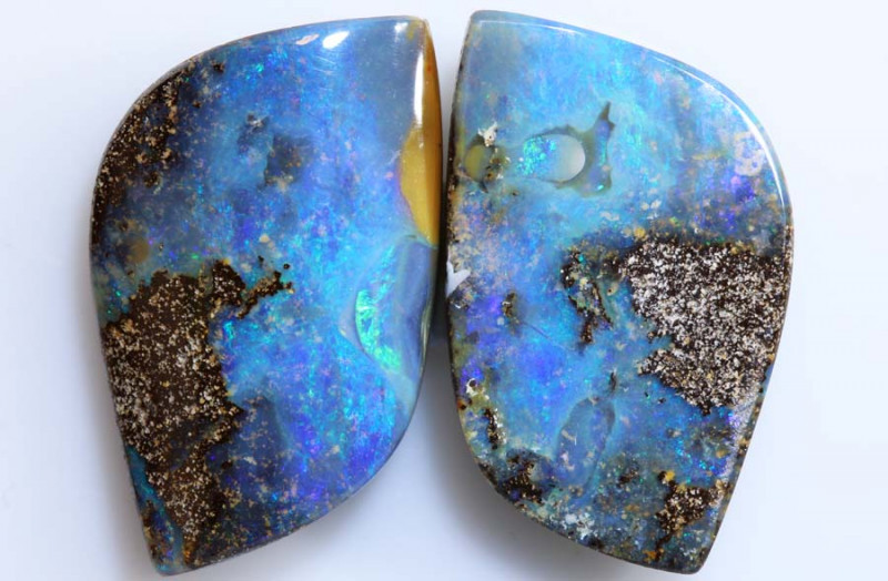 33.85 CTS -BOULDER OPAL POLISHED PAIR NC-2498 GC