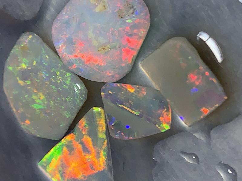 STUNNING DARK CRYSTAL RUBS; 7.5 CTs of Dark Opal Rubs #1256