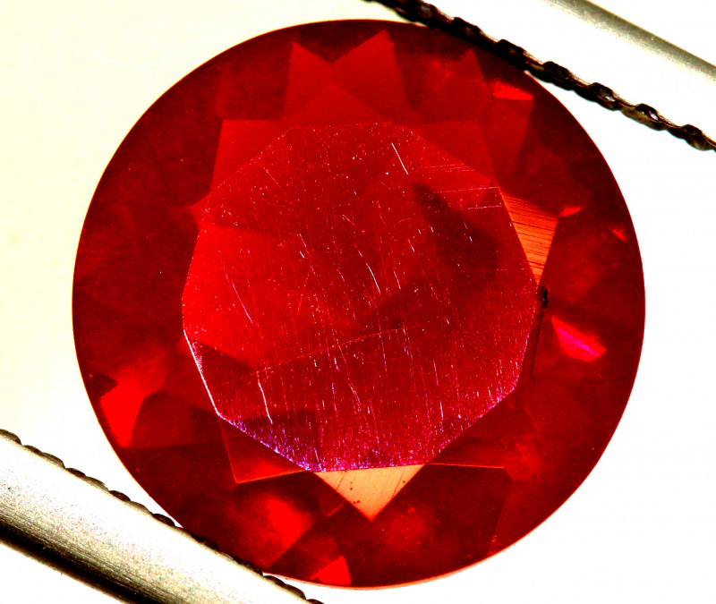 2.12- CTS MEXICAN FIRE OPAL  FACETED STONE   FOB-1906