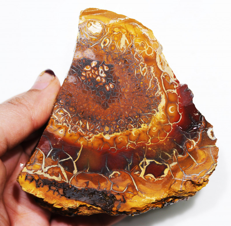 955 CTS  CHOCOLATE IRONSTONE / WHITE OPAL ROUGH [BY8014]