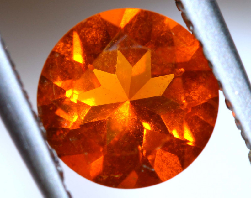 0.80 - CTS MEXICAN FIRE OPAL  FACETED STONE   FOB-1948