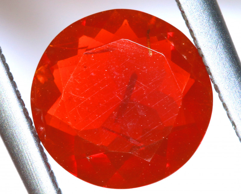 0.95 - CTS MEXICAN FIRE OPAL  FACETED STONE   FOB-1953
