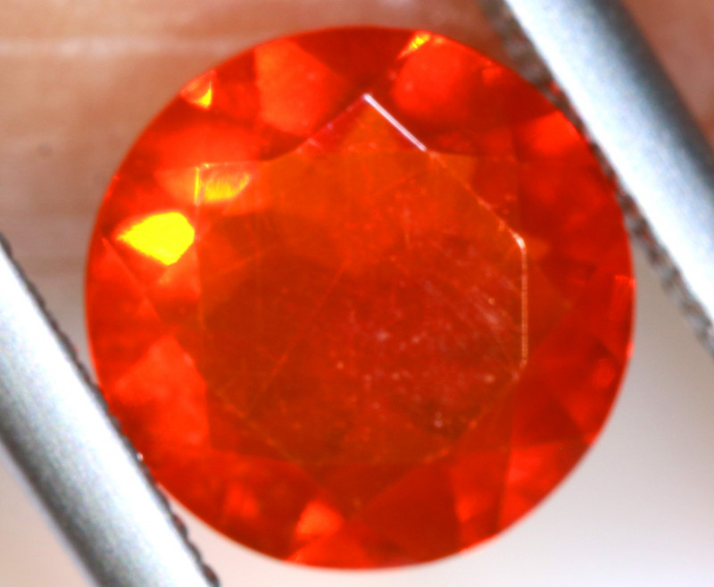 1.01 - CTS MEXICAN FIRE OPAL  FACETED STONE   FOB-1954