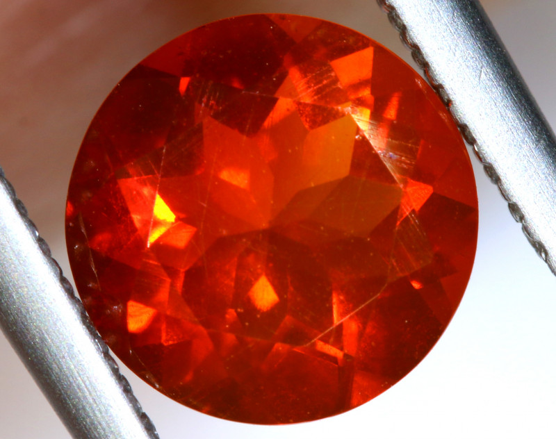 1.17 - CTS MEXICAN FIRE OPAL  FACETED STONE   FOB-1961