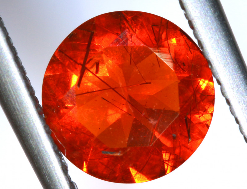 0.78 - CTS MEXICAN FIRE OPAL  FACETED STONE   FOB-1962