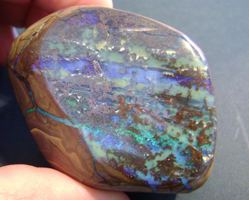 Bright Double Sided Australian Queensland Boulder Opal Specimen (z1409)
