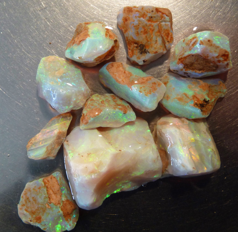 Very beautiful parcel of Australian Lambina Rough Opal (3116)