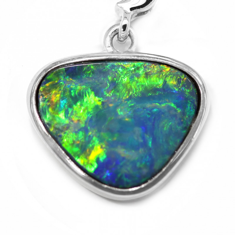 925 ST/ SILVER RHODIUM PLATED OPAL DOUBLET PENDANT [CP100]