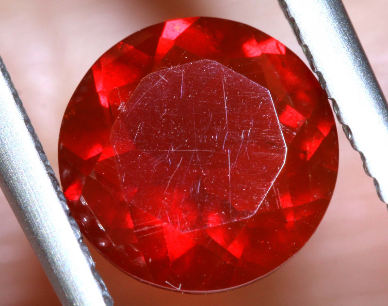 1.10 - CTS MEXICAN FIRE OPAL  FACETED STONE   FOB-1966