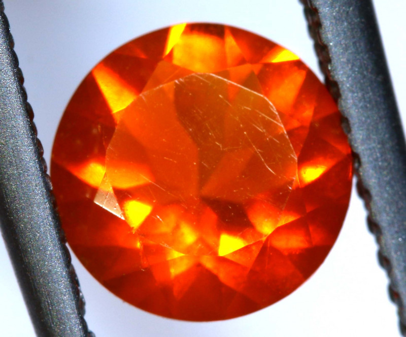0.85 - CTS MEXICAN FIRE OPAL  FACETED STONE   FOB-1969