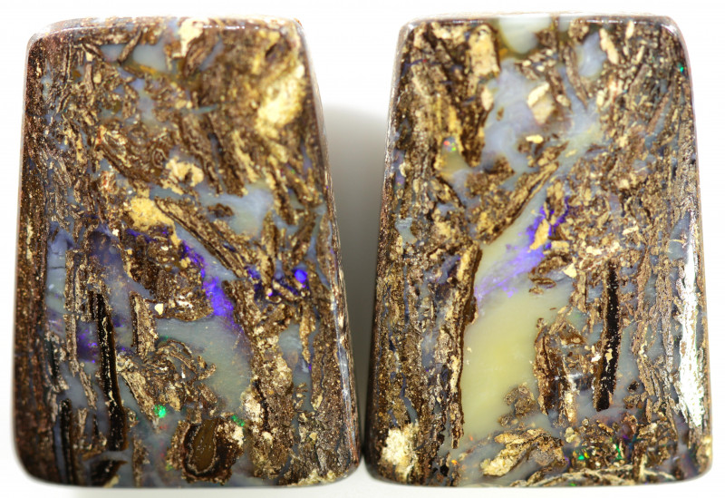 44.20 CTS WELL POLISHED PAIR BOULDER STONES [BMA8539]