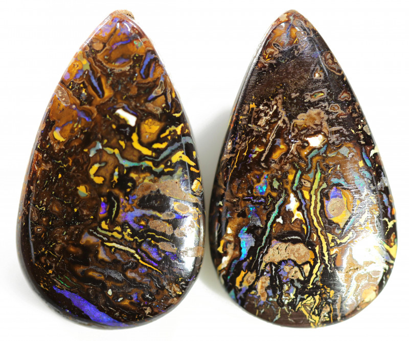 49.45 CTS WELL POLISHED PAIR BOULDER STONES [BMA8542]