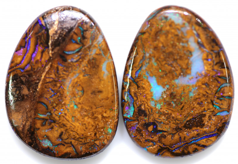56.50 CTS WELL POLISHED PAIR BOULDER STONES [BMA8544]