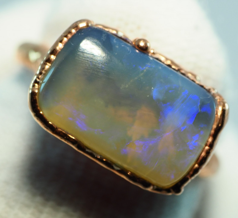 15.55CT OPAL RING WITH ELECTRIC FORM COPPER  AA462