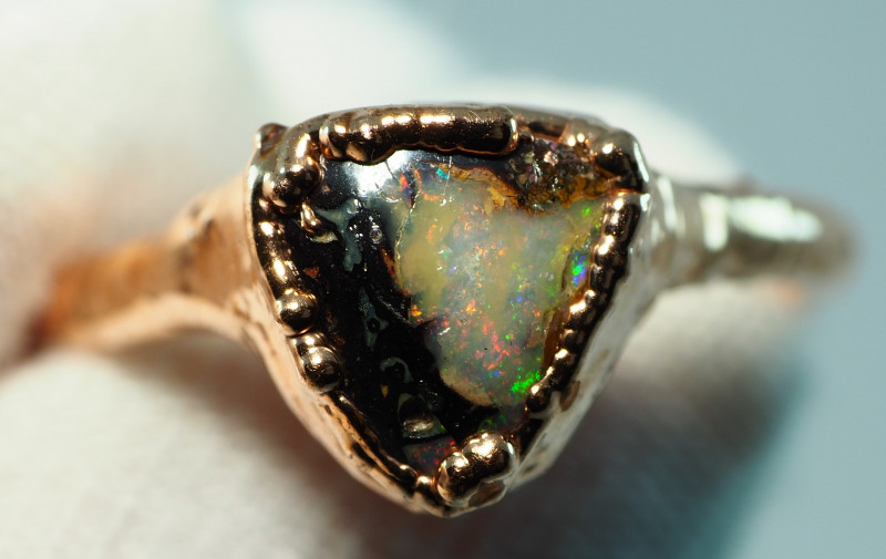 14.45CT OPAL RING WITH ELECTRIC FORM COPPER  AA471