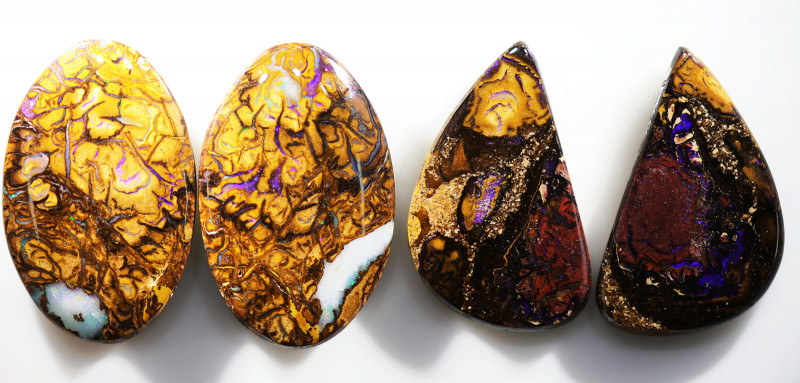 79.35 CTS WELL POLISHED PAIR PARCEL BOULDER STONES [BMA8559]