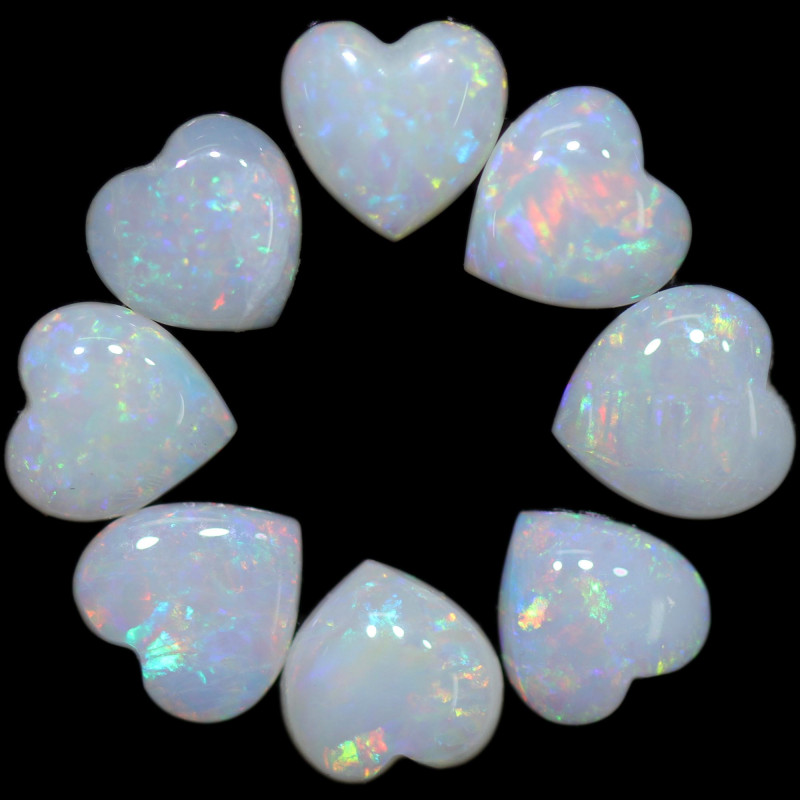 2.98 CTS HEART SHAPED NATURAL FIRE OPAL  PARCEL [SEDA2651]