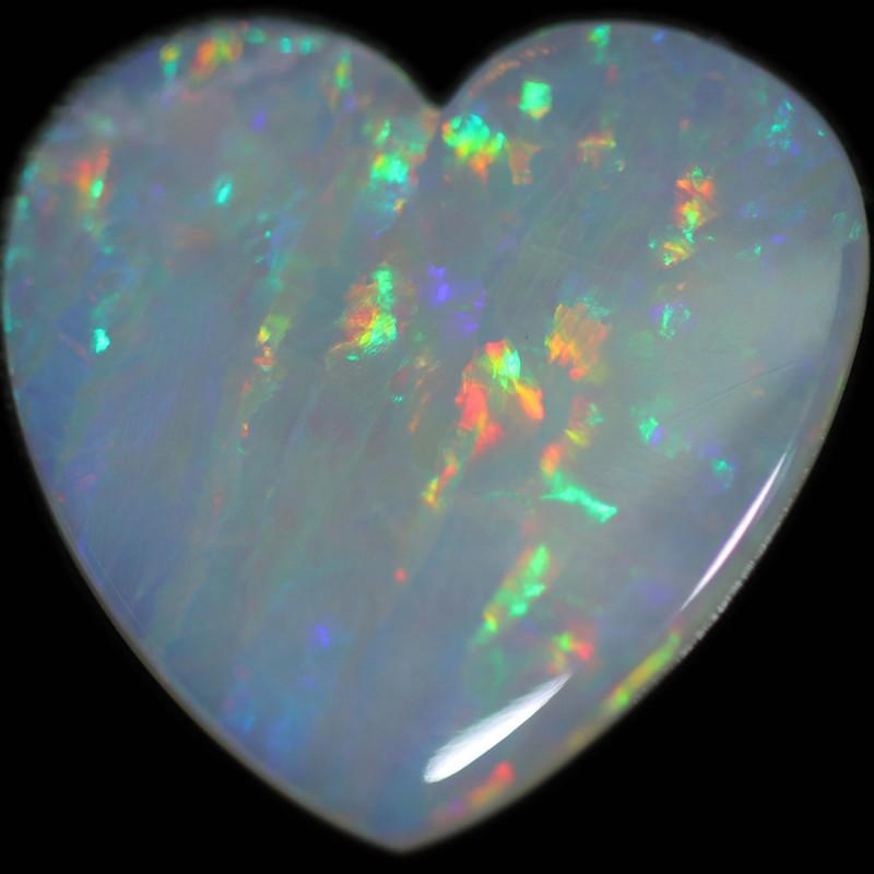 6.21 CTS HEART SHAPED NATURAL FIRE OPAL  STONE [SEDA2657]