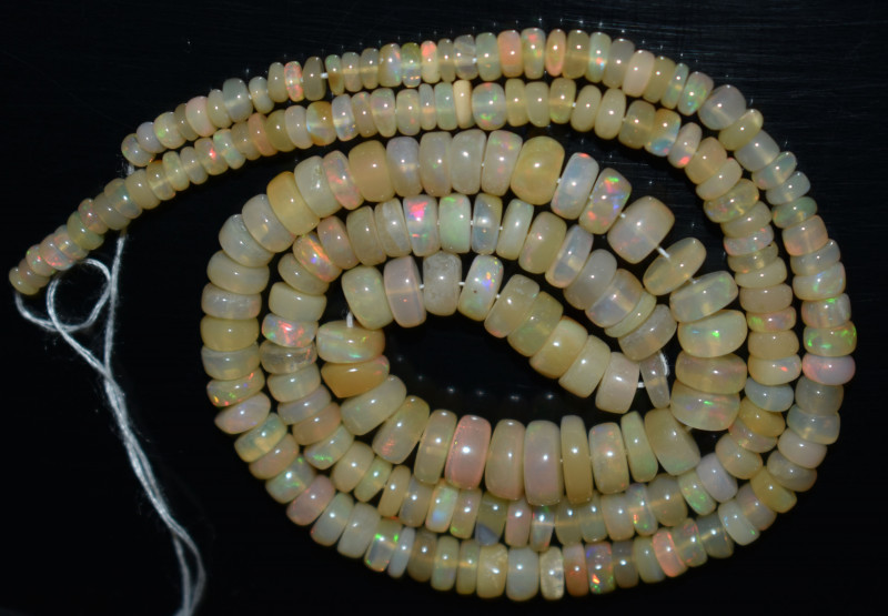 45.95 Ct Natural Ethiopian Welo Opal Beads Play Of Color