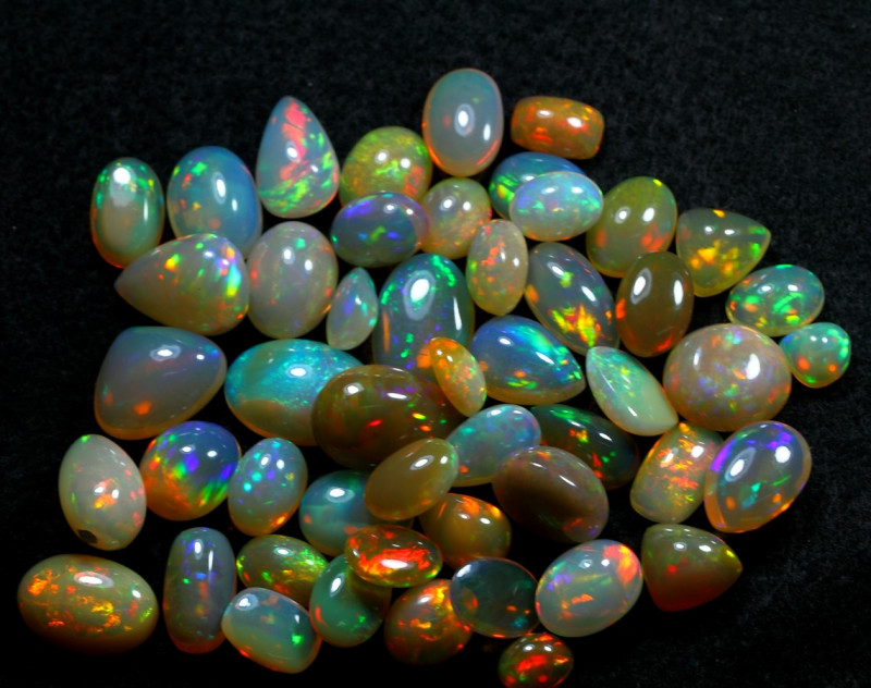 288cts 50 Pices Nice Quality Natural Ethiopian Welo Opal