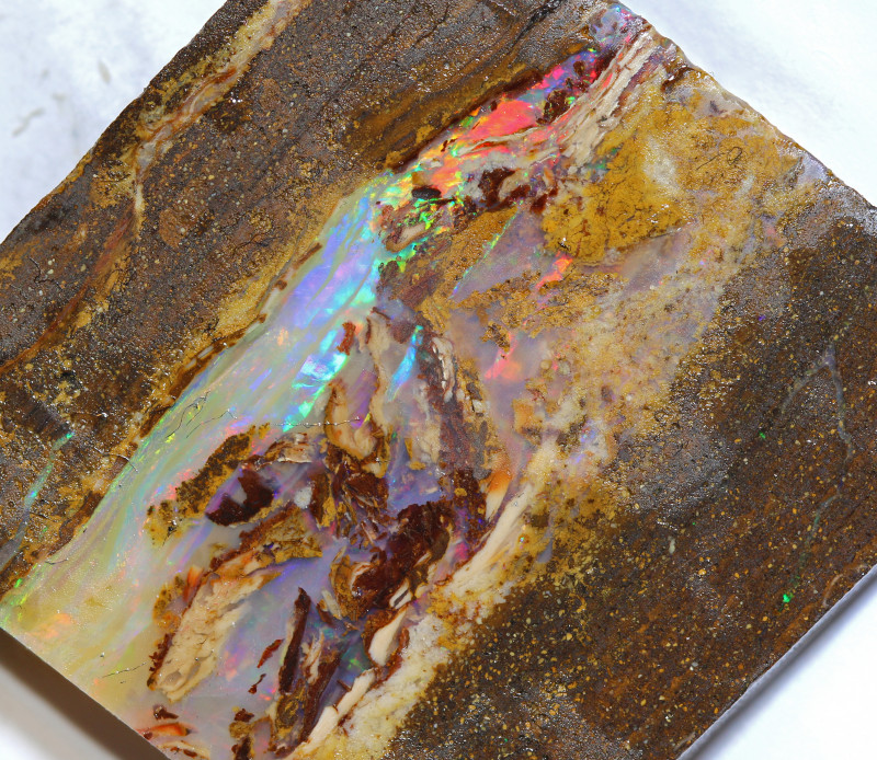 130.95 carats BOULDER OPAL ROUGH wood fossil ANO-801