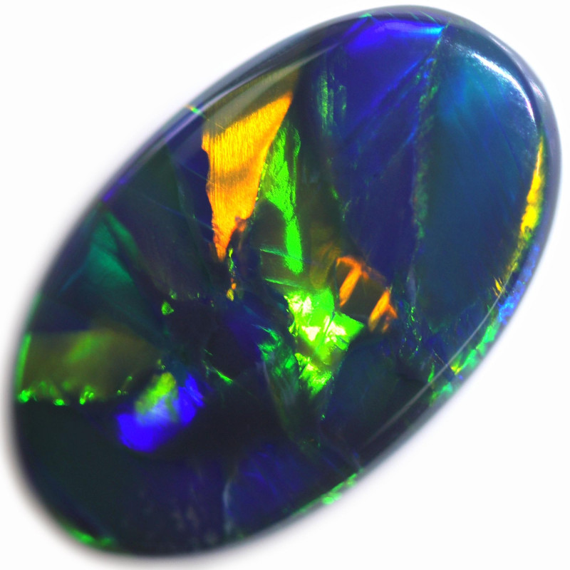 2.20 CTS BLACK OPAL STONE-FROM  OLD COLLECTION- [LROG754]