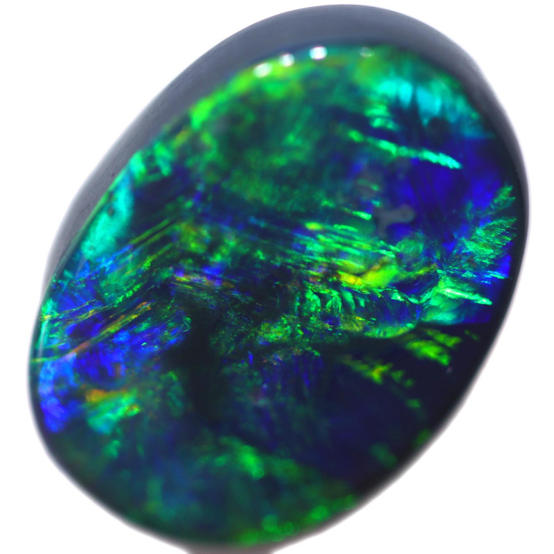 3.55 CTS BLACK OPAL STONE-FROM  OLD COLLECTION- [LROG757]