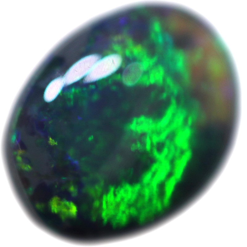 0.45 CTS BLACK OPAL STONE-FROM  OLD COLLECTION- [LROG767]