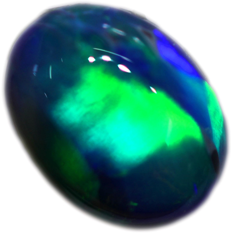 1.06 CTS BLACK OPAL STONE-FROM  OLD COLLECTION- [LROG772]