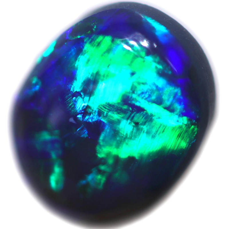 1.26 CTS BLACK OPAL STONE-FROM  OLD COLLECTION- [LROG787]